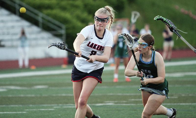 REVIEW FILE PHOTO - Lake Oswego sophomore attack Katie Freeman is back to help lead the Lakers after winning all-league and all-state honors in 2017.