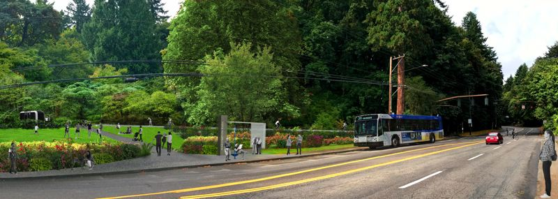 COURTESY: PORTLAND PARKS AND RECREATION - Among the many planned improvements to Washington Park, one will be the west Burnside entrance to the park.
