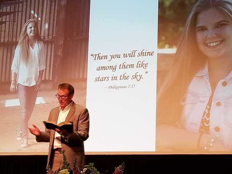 REVIEW PHOTO: GARY M. STEIN - 'God has taken her home,' Pastor David Sorensen said of Nina Heidgerken. 'He's got her, and she is rejoicing.'