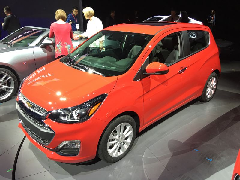 PORTLAND TRIBUNE: JEFF ZURSCHMEIDE - Changes to the subcompact 2019 Chevry Spark include new front-end styling.