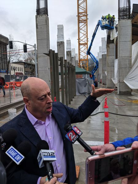 PAMPLIN MEDIA GROUP: JOSEPH GALLIVAN - Timbers and Thorns business manager Mike Golub explains how fans will be little inconvenienced by construction work this season.