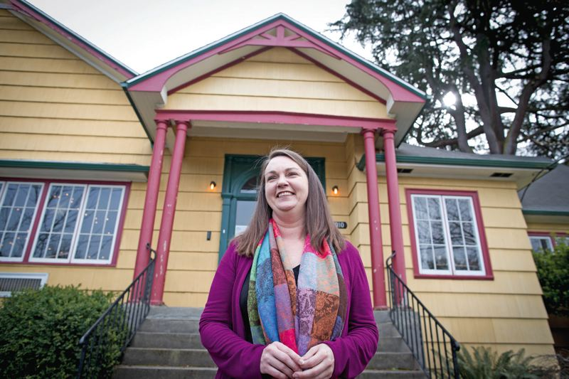 TRIBUNE PHOTO: JAIME VALDEZ - Michelle Jones is the founder of Wayfinding Academy, an alternative college located in North Portland.