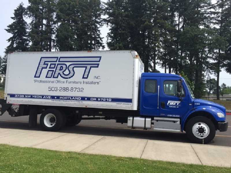 SUBMITTED PHOTO: LYDIA HIBSCH - First Inc., a moving and storage company, has offered their services to Play Smart for free. They store all of the equipment and transport the equipment to and from each event.