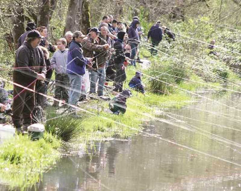 A family fishing event will be Saturday, April 14, at Shorty's Pond in Molalla.