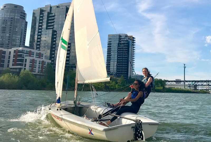 SUBMITTED PHOTO - Anisha Arcot sails competitively and hopes to join Yale University's sailing team in fall.