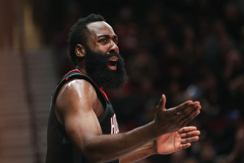 TRIBUNE PHOTO: DAVID BLAIR - The best offensive player on the NBA's best team, James Harden of the Houston Rockets, is favored as the Most Valuable Player for 2017-18.
