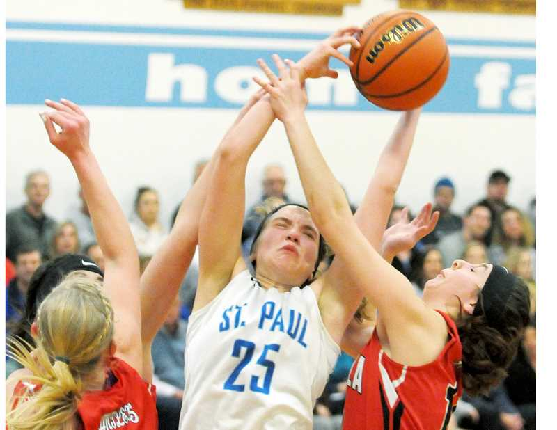GRAPHIC FILE PHOTO - St. Paul sophomore Erin Counts was named Second Team All-State by 2A coaches after leading the Buckaroos to a third-place finish at the state tournament. Teammate Isabelle Wyss was named to the third team.