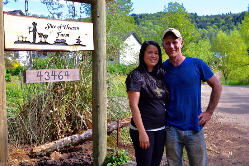 POST PHOTO: BRITTANY ALLEN - Marieta and Brandon Easley of Slice of Heaven Farms in Sandy start their spring season Community Supported Agriculture (CSA) program in May, and are still accepting applications for shares.