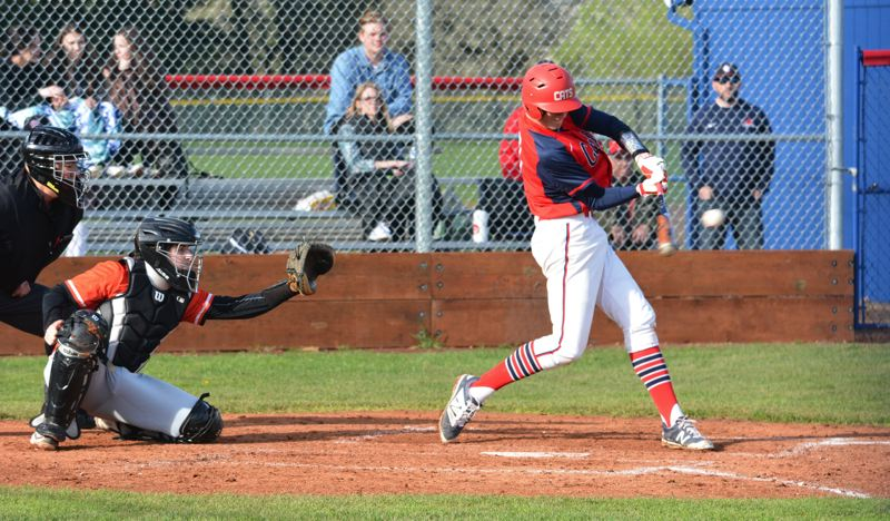 TIMES PHOTO: MATT SINGLEDECKER - Westview freshman first baseman Mason Guerra had three base hits including a two-run single against Beaverton.