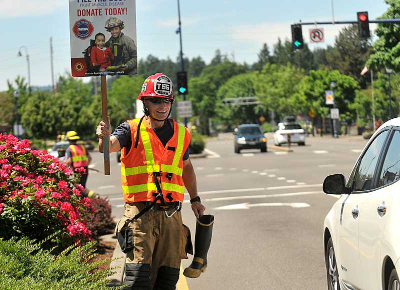 SPOKESMAN FILE PHOTO - Tualatin Valley Fire and Rescue did not inform the City of Wilsonville about the Fill the Boot event last year.