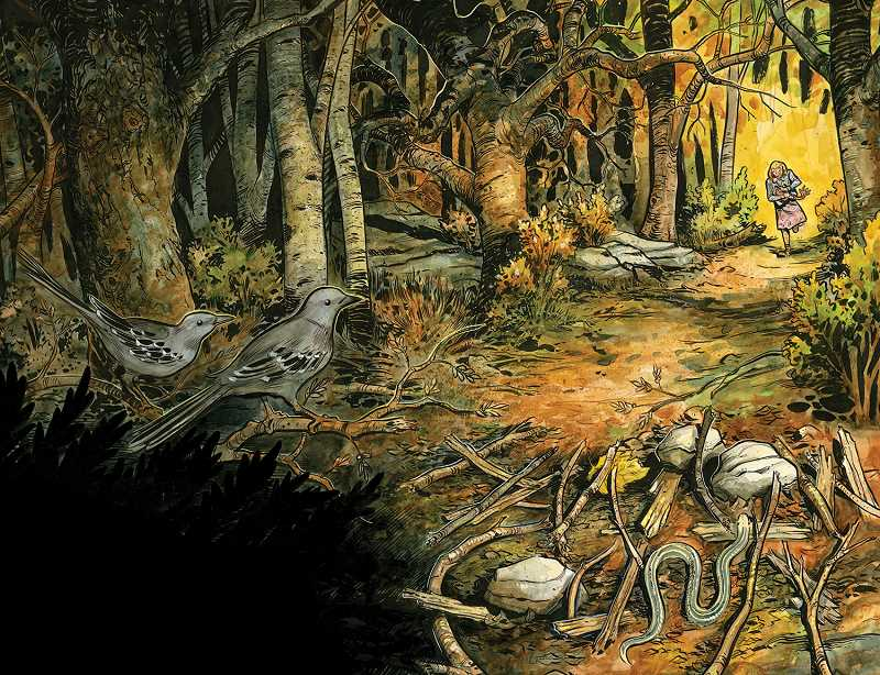"""Comic book artist Tyler Crook  has an exhibit,  """"Skeletons: The spooky comic book of Tyler Crook,"""" at Clackamas Community College this month"""
