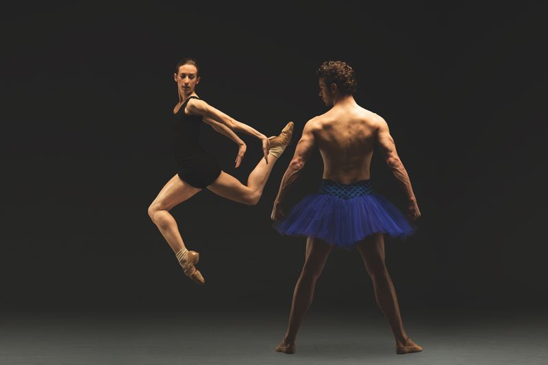 COURTESY: CHRISTOPHER PEDDECORD - Oregon Ballet Theatre (including Emily Parker and Avery Reiners) puts on 'Man/Woman,' examining gender roles.