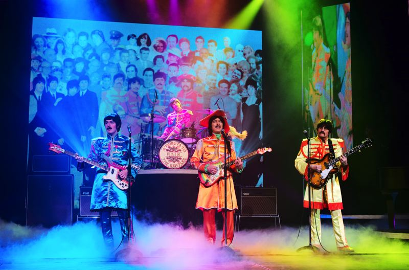 COURTESY: RICHARD LOVRICH - 'Rain, A Tribute to The Beatles' is celebrating the 50th year of the 'Sgt. Pepper's Lonely Hearts Club Band' and plays the album in its entirety in concert, including April 17-18 at Keller Auditorium.