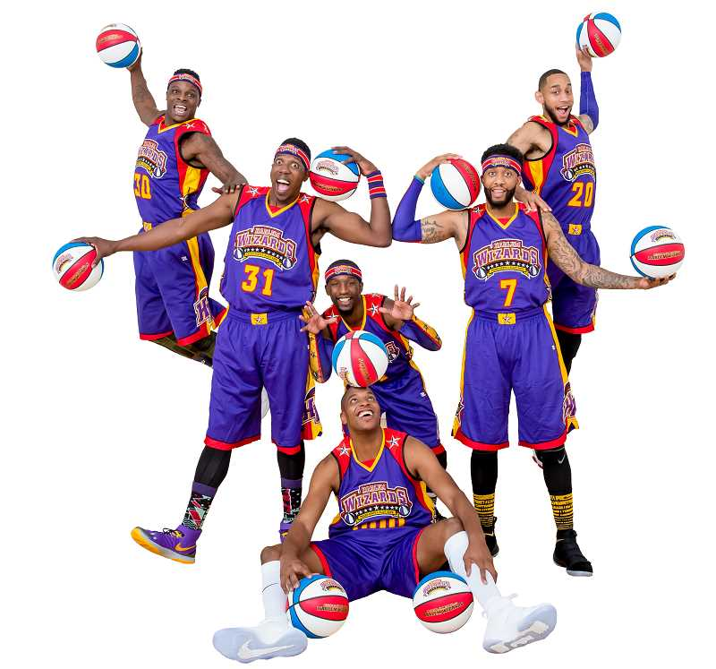 COURTESY PHOTO: HARLEM WIZARDS - The Harlem Wizards Swoop Unit will visit St. Paul High School next month for a fundraising basketball game against school district leaders.