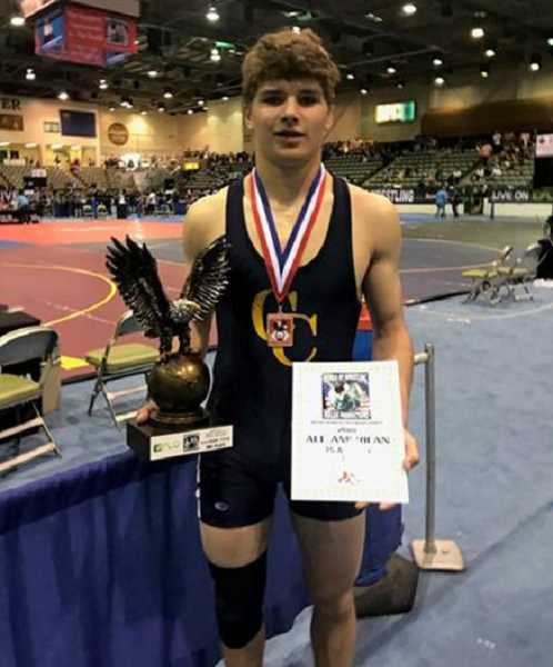 PHOTO COURTESY OF LANCE LAVEY  - Kyle Knudtson placed third in the 15U 175-pound weight class.