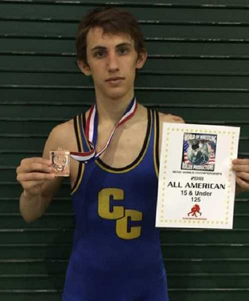 PHOTO COURTESY OF LANCE LAVEY  - Zach Mauras finished seventh in the 15U 125-pound class.