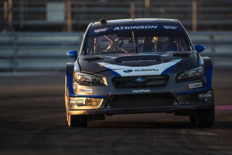 COURTESY SUBARU RALLY TEAM USA - Subaru Rally Team USA, driver Chris Atkinson will bring his car to Portland International Raceway on April 20. This will be the first North American rally for Atkinson, who hails from Australia.
