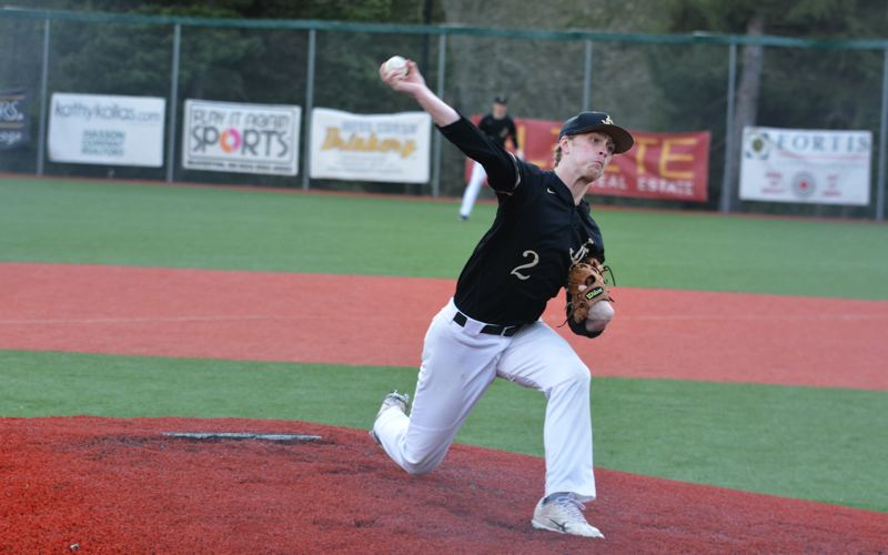 TIMES PHOTO: MATT SINGLEDECKER - Jesuit pitcher Trey Werner was outstanding for the Crusaders, throwing five shutout innings against Southridge.