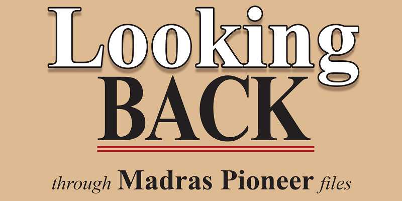 PIONEER LOGO - The Madras Pioneer looks back over the files from 100, 75, 50 and 25 years ago.