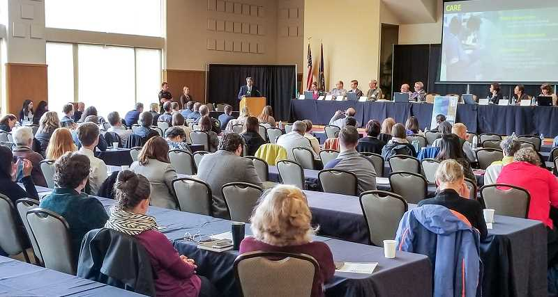 REVIEW PHOTO: ANTHONY MACUK - An audience of roughly 150 attended the Tri-County summit, which was organized by the group Lines for Life in partnership with Washington, Clackamas and Multnomah counties.