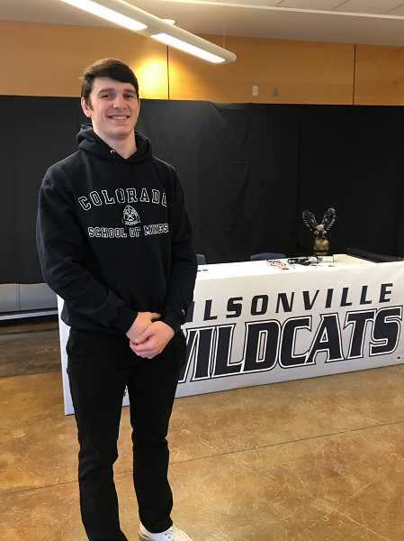 SUBMITTED PHOTO - Perry Rodenbeck signed to compete on the Colorado School of Mines wrestling program. Rodenbeck will study engineering while a member of the Orediggers.
