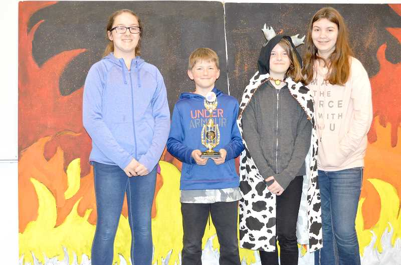 PIONEER PHOTO: CINDY FAMA - Students on the TAG team include from left to right: Cierra Ridenour, Jacob Bell, Laramie Oedell and Anna Woodward.