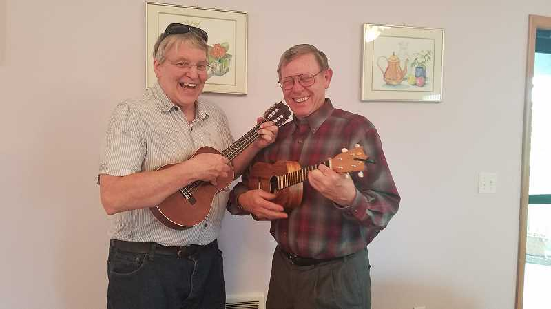 CONTRIBUTED PHOTO: YVONNE STAVE - The ukulele group at Eagle Creek Presbyterian Church will play during the upcoming baked potato feed.