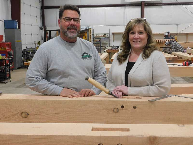 ESTACADA NEWS PHOTO: EMILY LINDSTRAND - John and Diane Pederson recently relocated their business, Framework Plus, to Estacada.