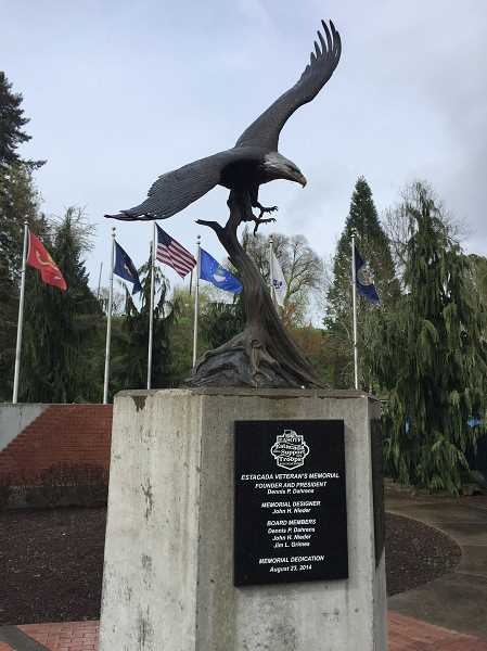 ESTACADA NEWS PHOTO: EMILY LINDSTRAND - The Estacada Veterans Memorial will soon feature a wall to honor first responders.