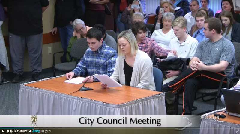 CITY OF WEST LINN VIDEO - The Youth Advisory Council presented its recommendations regarding parking at West Linn High School during a March 5 City Council work session. At the April YAC meeting that followed, members felt City Councilor Teri Cummings was trying to sway their opinions.
