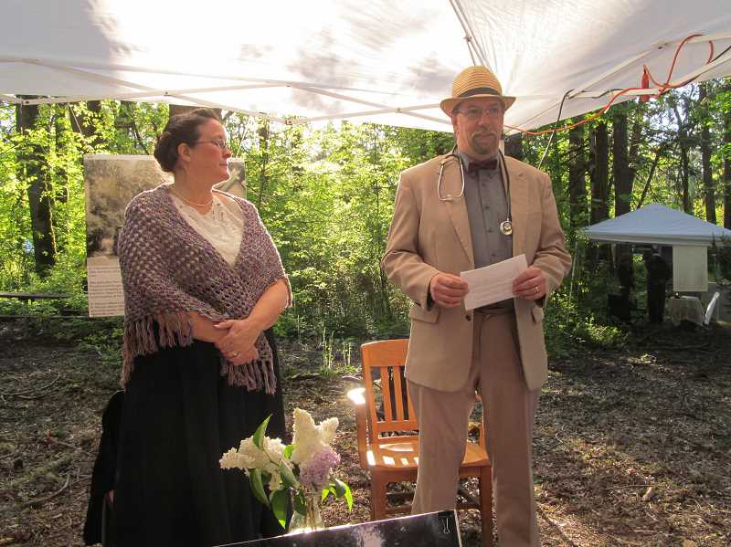 SUBMITTED PHOTO - After a successful first run last year at Mary S. Young Park, Voices from the Past will move to the McLean House this year and focus on stories from the Oregon Trail.