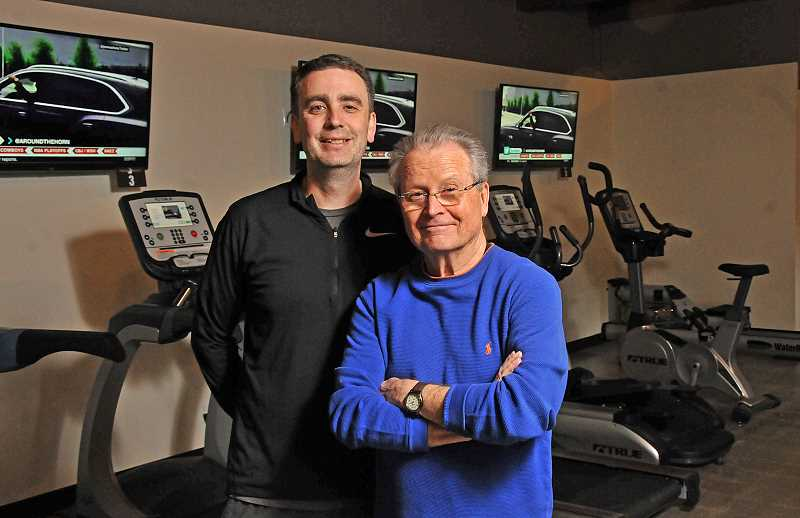 REVIEW PHOTO: VERN UYETAKE - Adam Barron (left) and Graham Salisbury are the owner-operators of Project 360, a new take on personalized training housed in the downtown Lake Oswego space formerly occupied by Grahams Stationery.