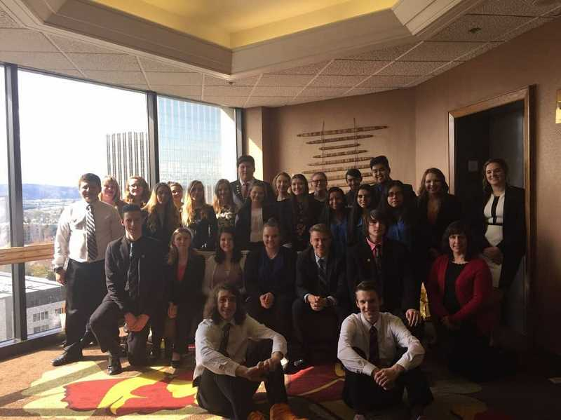 SUBMITTED PHOTO: CORRI ELLIS - Molalla's FBLA chapter came home from the state competition on April 5-7 with more than 30 awards.