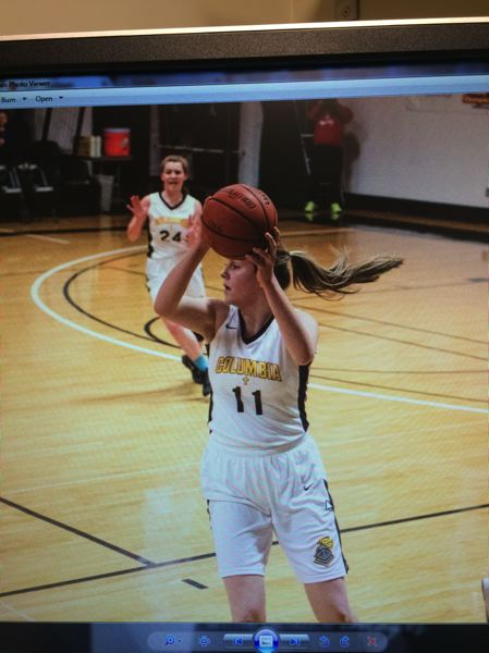 COURTESY PHOTO: HOWARD FAMILY - A screenshot from a video shows Sami Howard crashing to the ground after a rebound.
