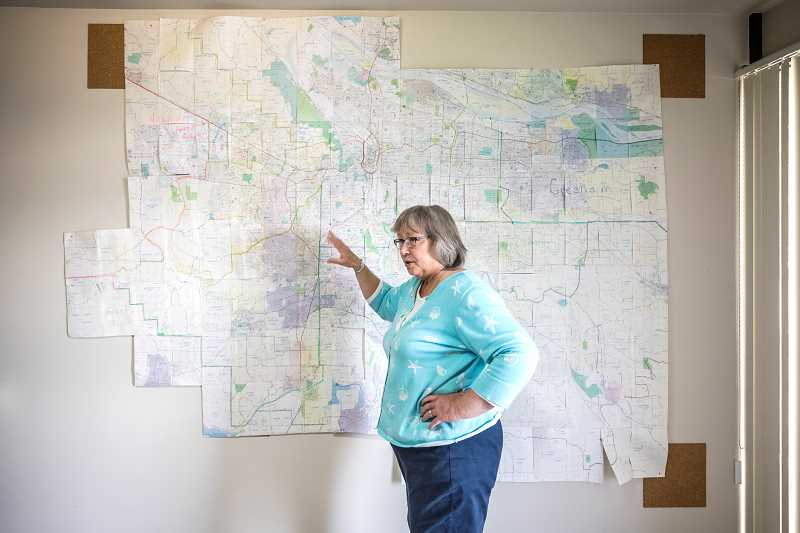 TIMES PHOTO: JONATHAN HOUSE - Tigard Servpro owner Kathy Linderman talks about her coverage area in the Portland Metro region.