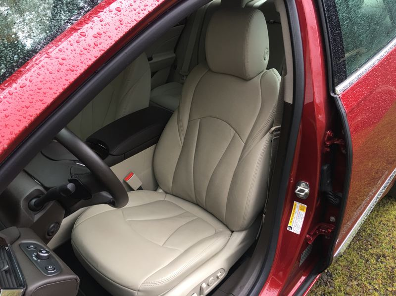 PORTLAND TRIBUNE: JEFF ZURSCHMEIDE - Depending on your trim choice, the LaCrosse is available with perforated leather front seats with both heat and ventilation. Premium trim also includes a lumbar massage function and a heated steering wheel.