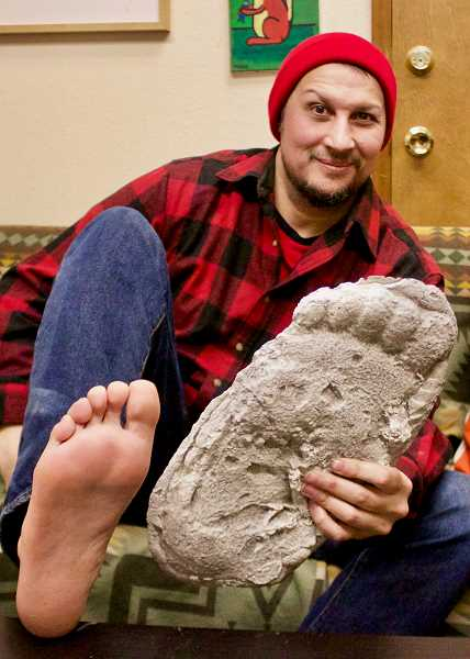 OUTLOOK PHOTO: CHRISTOPHER KEIZUR - Greshams Guy Edwards has loved researching Bigfoot since he first learned of the creatures in the second grade.