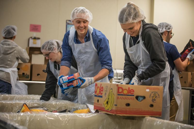 PAMPLIN MEDIA GROUP: JON HOUSE - Johnston at the Oregon Food Bank, where he and his team recently volunteered to give back. WorkStep recently moved into its new office in the World Trade Center.
