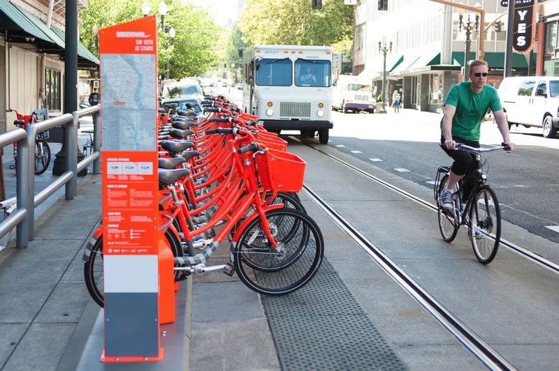 PAMPLIN MEDIA GROUP FILE PHOTO - Nike Biketown bicycles provided about 520,000 rides during the past two years, according to data released Friday, April 20.