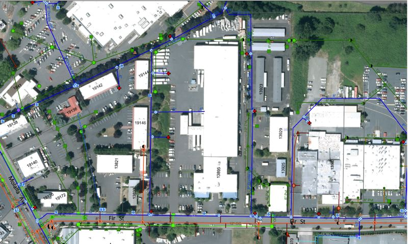 MAP COURTESY: CITY OF OC - Former General Distributing Inc warehouse on Fir Street set for purchase by Oregon City officials.