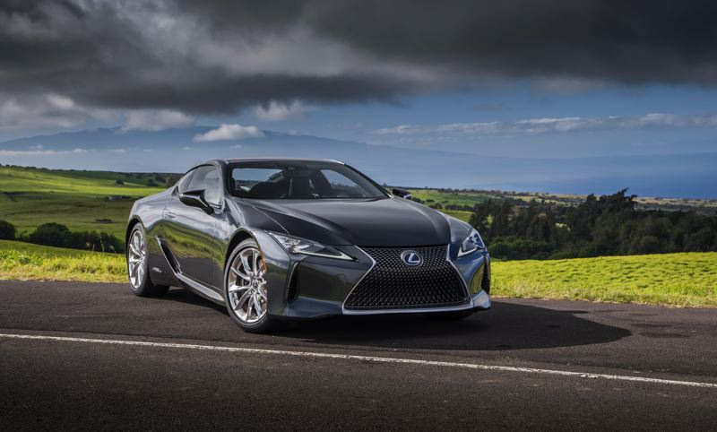 TOYOTAL MOTORS SALES USA - The 2018 Lexus LC 500h is styled to make everything else on the road look boring, and it succeeds.