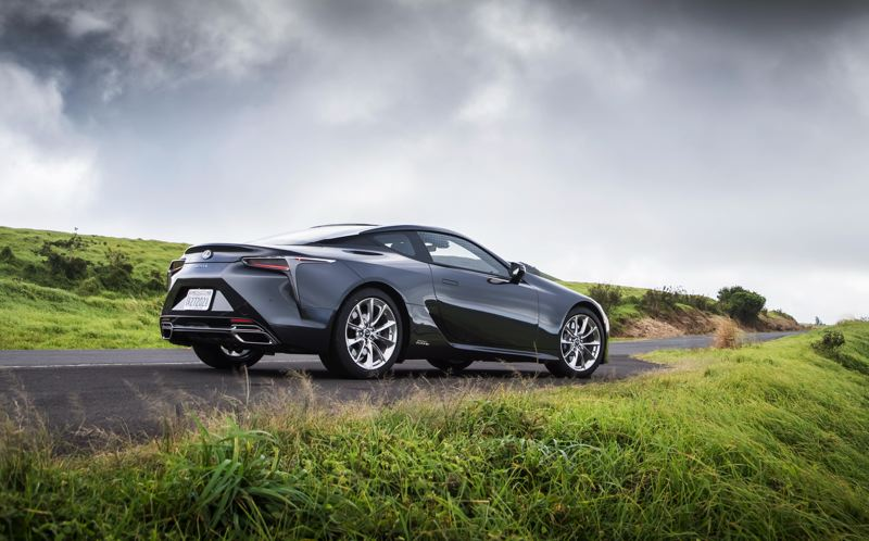 TOYOTA MOTOR SALES USA - Even the rear of the 2018 Lexus LC 500h looks exciting.