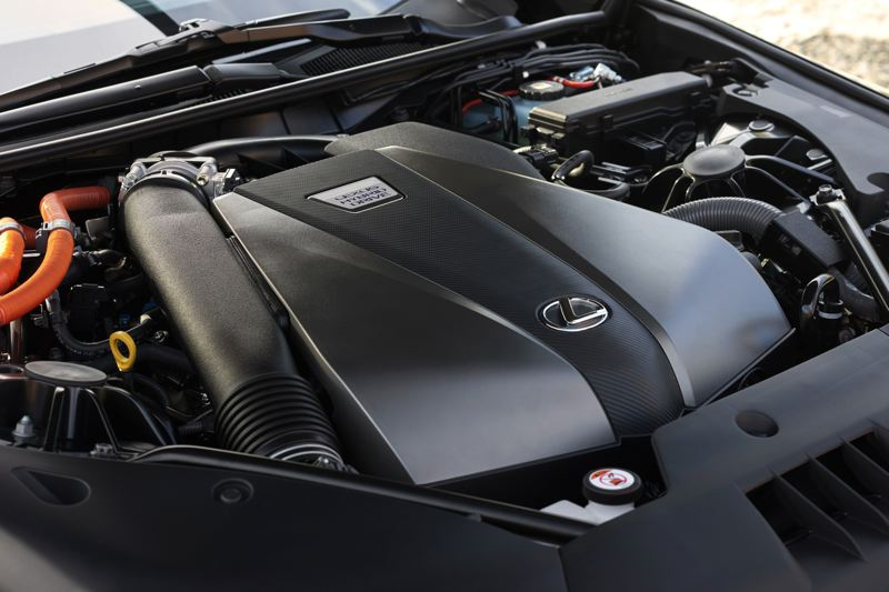 TOYOTA MOTORS SALES USA - The heart of the 2018 Lexus LC 500h is a 3.5-liter V6 and two electric motors that produce a combined 345 horsepower.
