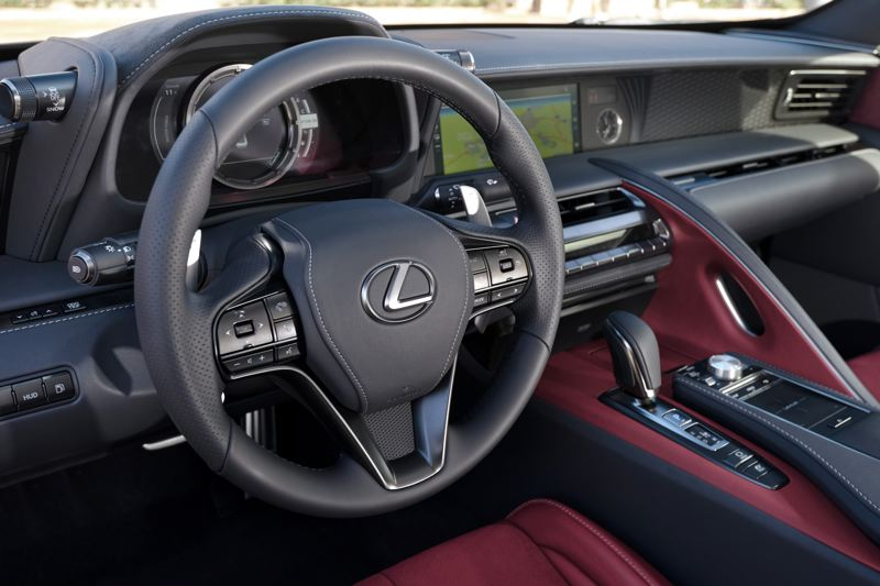 TOYOTA MOTORS SALES USA - The interior of the 2018 Lexus LC 500h srrounds its occupants in luxury and advanced technologies.