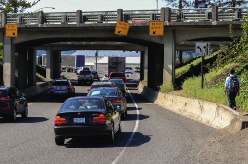 OUTLOOK FILE PHOTO - Motorists on Interstate 84 can cross Graham Road in Troutdale on west and eastbound bridges.