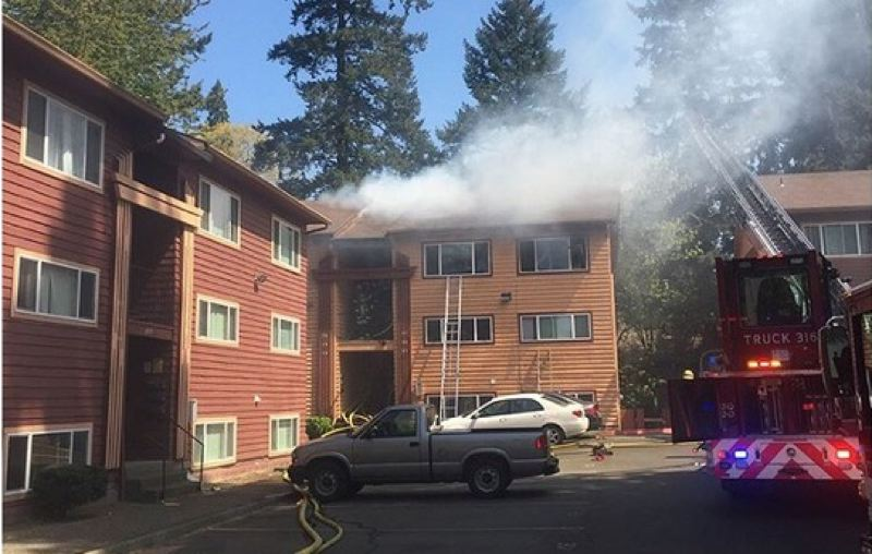 Charming PHOTO COURTESY: CLACKAMAS FIRE   Clackamas Firefighters Attacked A Fire At  The Images Springcreek Apartments