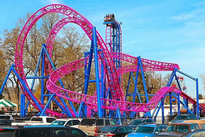 DAVID F. ASHTON - The new Oaks Amusement Park attraction, the German-made Adrenaline Peak roller coaster, will be giving riders thrills all summer long.
