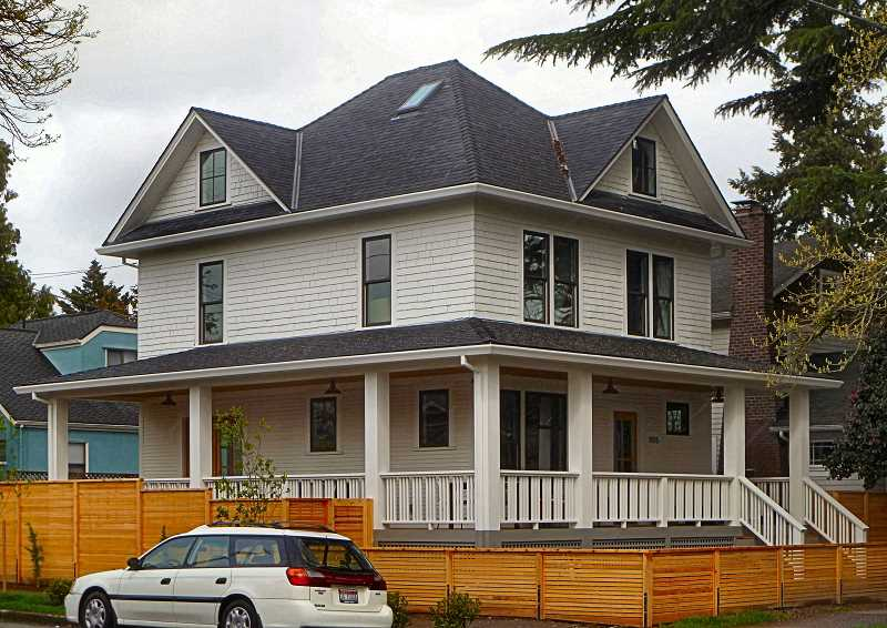 EILEEN G. FITZSIMONS - This large Four-Square-style house, built in 1908, is located at S.E. 11th and Nehalem Streets.