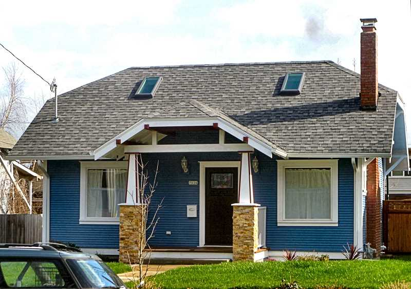 EILEEN G. FITZSIMONS - This cottage, finished in 1921, faces S.E. 17th, just south of Bybee Boulevard.