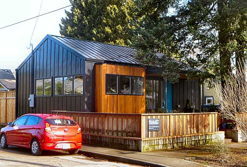 EILEEN G. FITZSIMONS - This tiny house, at the corner of S.E. 14th and Ogden Streets, was completed in 1925.
